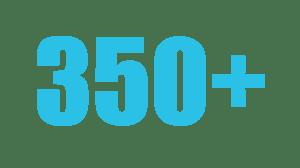 350+contributors