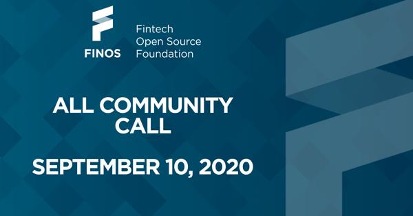FINOS-all-community-call-september-2020