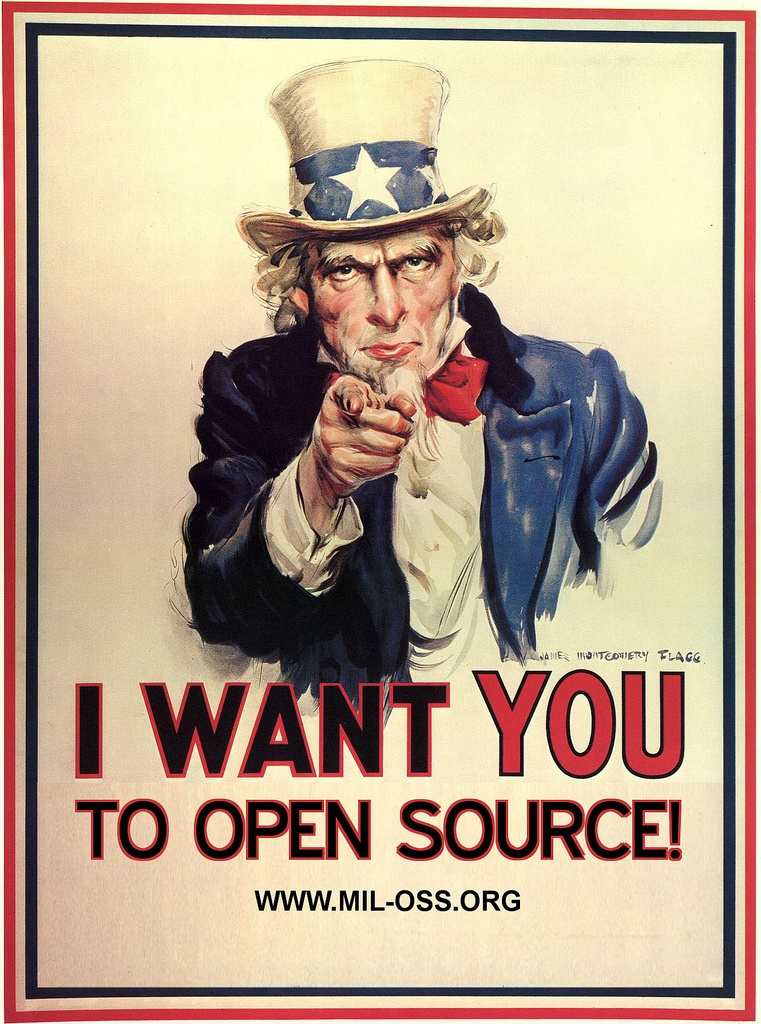 I want you to Open Source!